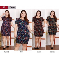DORA Dress Peplum Jumbo - Batik Modern Wanita Big Size (IT)