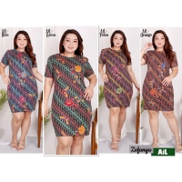Zefanya Dress Batik Jumbo Big Size fit to XXL (AIL)