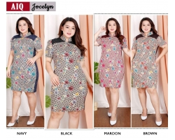 JOCELYN Big Size Dress Batik Modern Jumbo (AIQ)