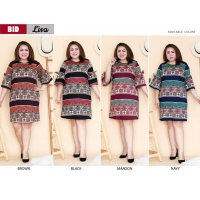 LISA Dress Big Size Lengan 3/4 - Batik Jumbo fit up to XXL (BID)