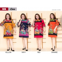 LISA Dress Big Size Lengan 3/4 - Batik Jumbo fit up to XXL (BJQ)