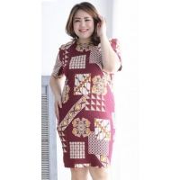 FAIZA Batik Jumbo Dress - Big Size fit up to XL (2)