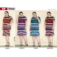 Prisca Dress Batik Jumbo XL - Dress Wanita Big Size (BJP)