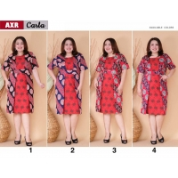 Carla Dress Batik kombinasi Brokat Jumbo Big Size fit up to XXL (AXR)