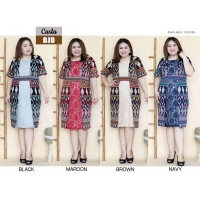 Carla Dress Batik kombinasi Brokat Jumbo Big Size fit up to XXL (BJB)