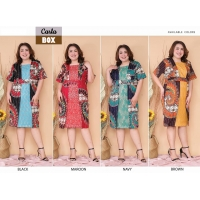 Carla Dress Batik kombinasi Brokat Jumbo Big Size fit up to XXL (BOX)
