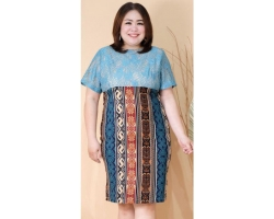 EMILY LACE BATIK Jumbo Wanita - Dress Big Wanita Bigsize fit up to XXL