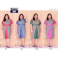 BEATRICE Jumbo Batik Dress Kombinasi - Big Size fit up to XXL (JMZ)