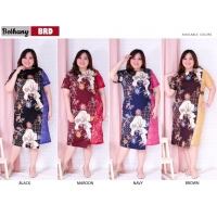 Bethany Dress Batik Big Size fit up to XXL - Batik Kombinasi Brokat Jumbo (BRD)
