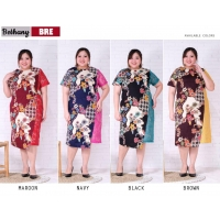 Bethany Dress Batik Big Size fit up to XXL - Batik Kombinasi Brokat Jumbo (BRE)