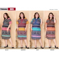 FATEEMA Dress Batik Jumbo Wanita Big Size fit up to XXL (BNS)