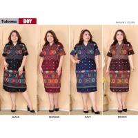 FATEEMA Dress Batik Jumbo Wanita Big Size fit up to XXL (BOY)