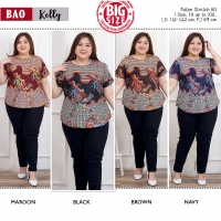 KELLY Modern Big Size Top with Side Buttons JUMBO XXL (BAO)