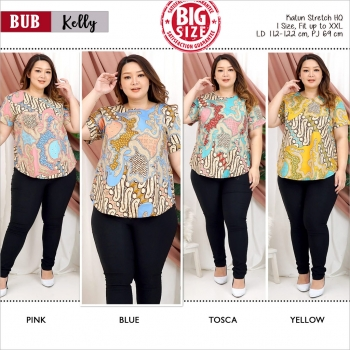 KELLY Modern Big Size Top with Side Buttons JUMBO XXL (BUB)