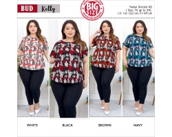 KELLY Modern Big Size Top with Side Buttons JUMBO XXL (BUD)