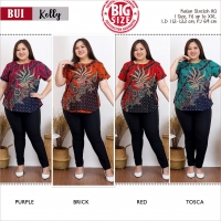 KELLY Modern Big Size Top with Side Buttons JUMBO XXL (BUI)