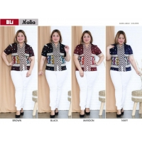 MALIA Atasan Batik Abaya Jumbo Big Size - Blouse Wanita fit to XL (BLI)