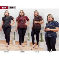 MALIA Atasan Batik Abaya Jumbo Big Size - Blouse Wanita fit to XL (BNH)