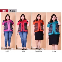 MALIA Atasan Batik Abaya Jumbo Big Size - Blouse Wanita fit to XL (BRI)