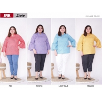LIVIO Big Size Blouse Bell-Sleeves - Atasan Jumbo fit up to XXL (JMK)