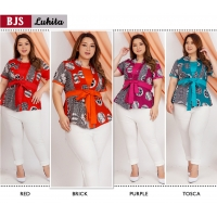 LUHITA Atasan Batik Peplum Jumbo Big Size fit up to XXL-2 (BJS)
