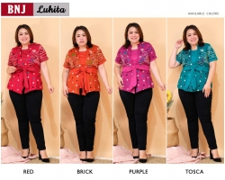 LUHITA Atasan Batik Peplum Jumbo Big Size fit up to XXL-2 (BNJ)