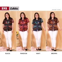 LUHITA Atasan Batik Peplum Jumbo Big Size fit up to XXL-2 (BNR)