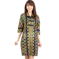 Malika Prada Batik Dress - BLACK