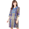 Malika Prada Batik Dress - BLUE