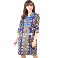 Malika Prada Batik Dress - BLUE [BTKD02]