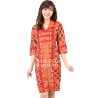 Malika Prada Batik Dress - RED
