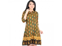 Elma Batik Dress 3 Ukuran - GREEN [BTKD02]