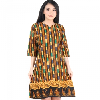 Elma Batik Dress 3 Ukuran - NAVY