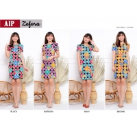 ZEFORA Dress Wanita Bodycon AllSize Batik Modern (AIP)