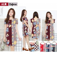 ZEFORA Dress Wanita Bodycon AllSize Batik Modern (ALM)