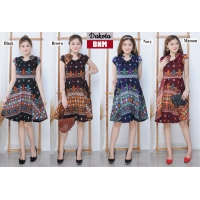 Dakota Dress Batik Modern Fit and Flare fit up to L (BNM)