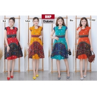 Dakota Dress Batik Modern Fit and Flare fit up to L (BNP)
