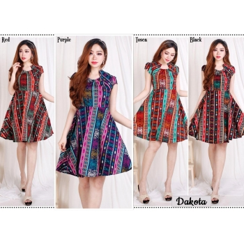 Dakota Dress Batik Modern Fit and Flare fit up to L