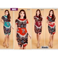 Wanda Elegant Dress Batik Modern Wanita fit up to L kecil (BMZ)
