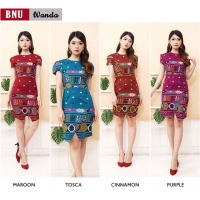 Wanda Elegant Dress Batik Modern Wanita fit up to L kecil (BNU)