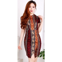 WANDA Batik Dress Wanita - ALLSIZE fit up to L