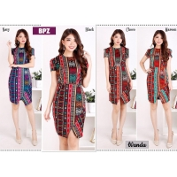 Wanda Elegant Dress Batik Modern Wanita fit up to L kecil (BPZ)