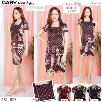 GABY Batik Dress - AllSize fit up to L kecil [BTKD02]