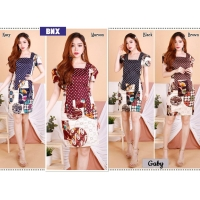 Gaby Dress Batik Modern Wanita Abaya Style fit up to L (BNX)