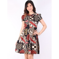 VERINA Batik Dress - BLACK [BTKD02]