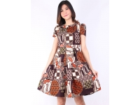VERINA Batik Dress - BROWN [BTKD02]