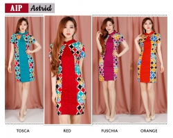 ASTRID Two Tone Dress Batik Modern Katun Stretch (AIP)