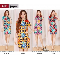 JOYCE Bodycon Dress Batik Modern Katun Stretch (AIP)