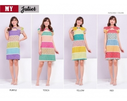 JULIET Dress Wanita Batik Modern Katun Stretch Standard Size (MY)