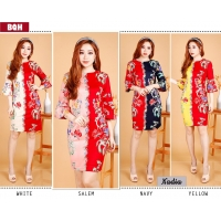 Nadia Dress Batik Wanita AllSize / Dress Kantor / Dress Pesta fit up to L kecil (BQH)